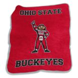 Logo Brand Ohio State Buckeyes Mascot Throw Blanket