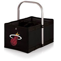 Picnic Time Miami Heat Urban Folding Picnic Basket