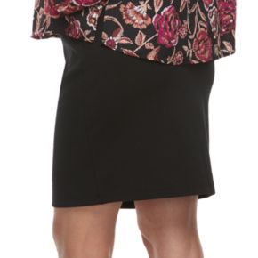 Maternity a:glow Full Belly Panel Ponte Pencil Skirt