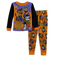 Toddler Boy Paw Patrol Halloween Glow in the Dark Top & Pants Pajama Set