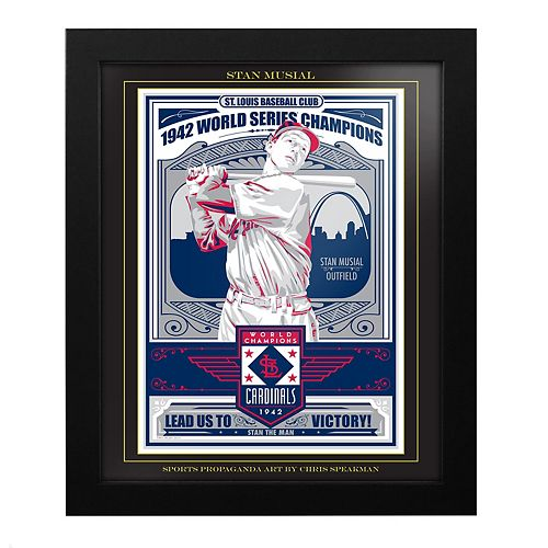 St. Louis Cardinals Stan Musial Framed Wall Art