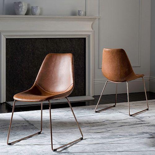 Safavieh Dorian Faux-Leather Accent Chair 2-piece Set