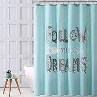 VCNY Follow Your Dreams Metallic Print Shower Curtain