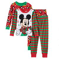 Disney's Mickey Mouse Toddler Boy 4 pc Christmas Pajama Set