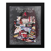 Arizona Diamondbacks State of Mind Framed Wall Art