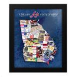 Atlanta Braves State of Mind Framed Wall Art