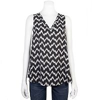 Juniors' Grayson Threads Print Lace-Back Tank
