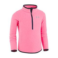 Girls 4-6x Under Armour Heathered Pink Quarter-Zip Pull-Over