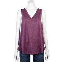 Juniors' Grayson Threads Velvet Lace-Back Tank