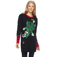 Juniors' Its Our Time Elf Tree Christmas Tunic