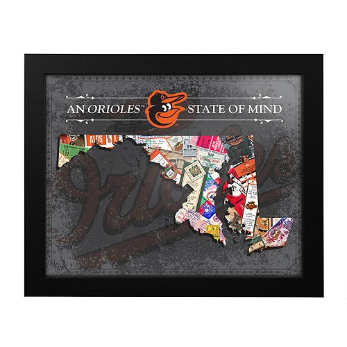 Baltimore Orioles State of Mind Framed Wall Art