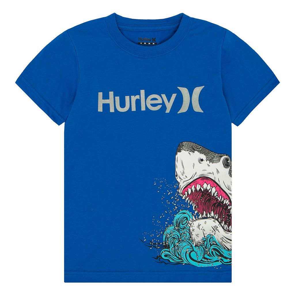Boys 4-7 Hurley Wrap-Around Shark Tee