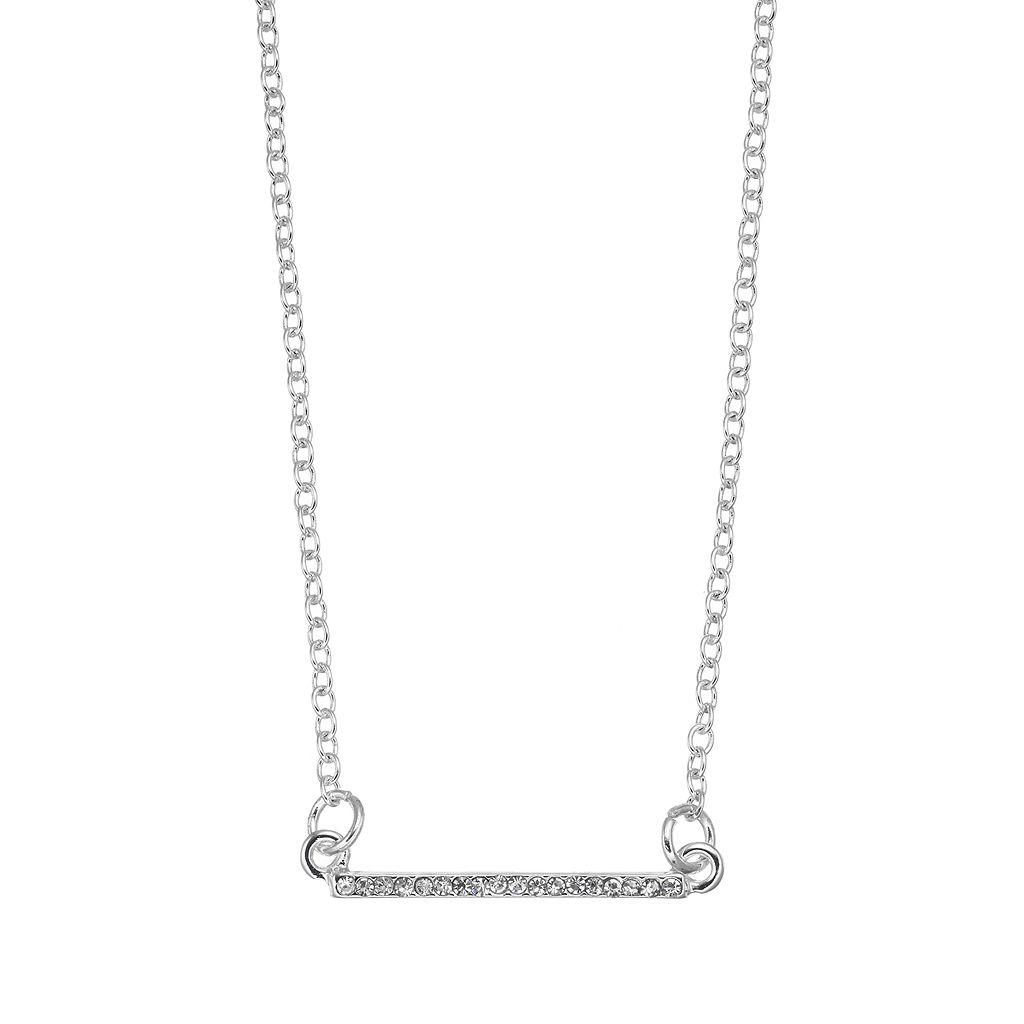 Chaps Pave Horizontal Bar Necklace