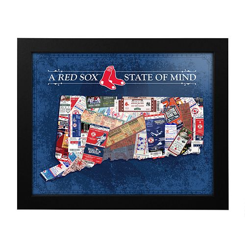 Boston Red Sox Connecticut State of Mind Framed Wall Art