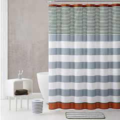 VCNY Stripe Shower Curtain & Accessories Bath Set