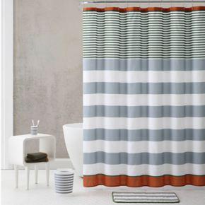 VCNY Stripe Shower Curtain & Accessories Bath Set