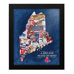 Boston Red Sox Maine State of Mind Framed Wall Art