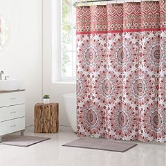 VCNY Phoebe Shower Curtain & Rug Bath Set