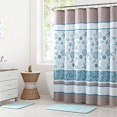 VCNY Harbor Lights Shower Curtain & Rug Bath Set