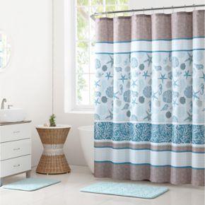 VCNY Harbor Lights Shower Curtain & Rug Bath Set