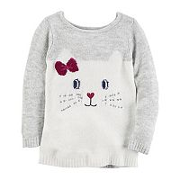 Girl's 4-8 Carter's Kitty Face Sweater