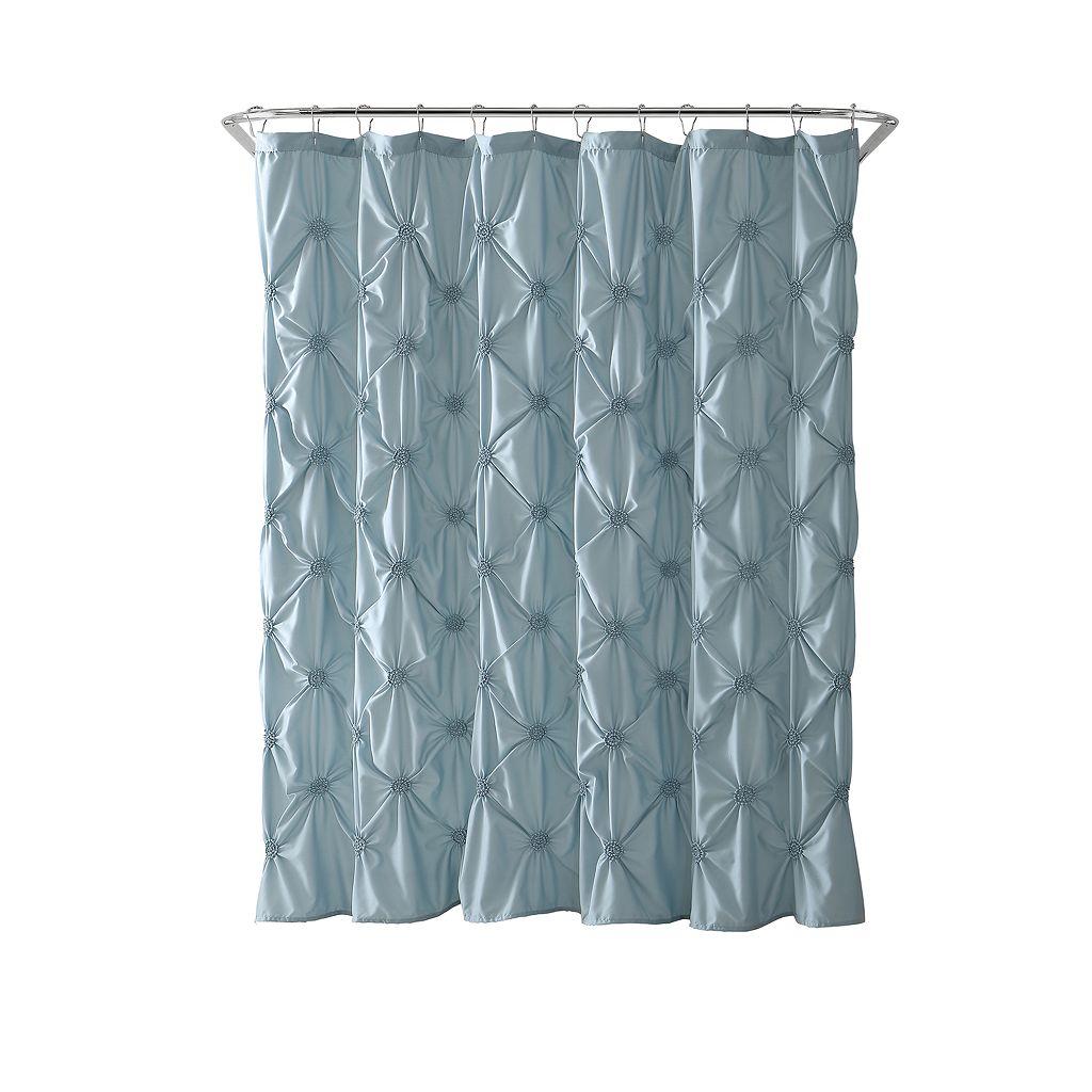 VCNY Floral Burst Microfiber Shower Curtain