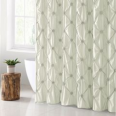 VCNY Floral Burst Microfiber Shower Curtain
