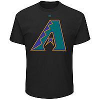 Men's Majestic Arizona Diamondbacks Cooperstown Official Logo Tee