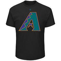 Men's Majestic Arizona Diamondbacks Cooperstown Official Logo Tee
