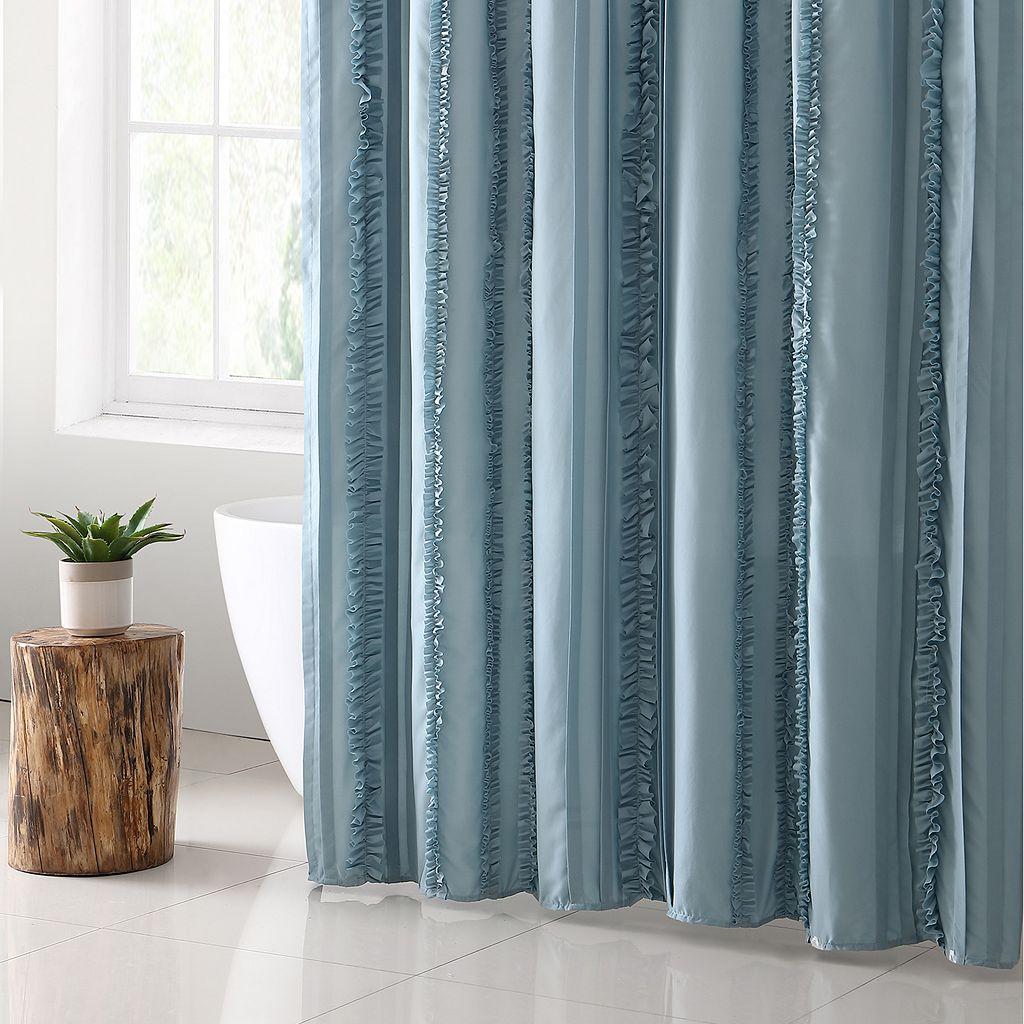 VCNY Hope Microfiber Shower Curtain