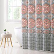 VCNY Medallion Boho Microfiber Shower Curtain