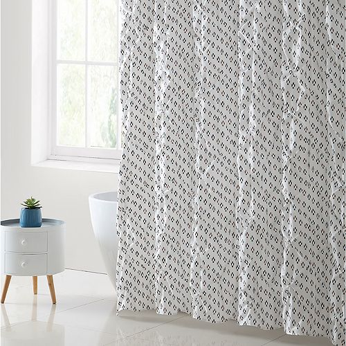 VCNY Palma Pleated Shower Curtain