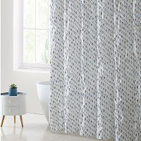 VCNY Palma Pleated Shower Curtain