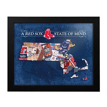 Boston Red Sox Massachusetts State of Mind Framed Wall Art