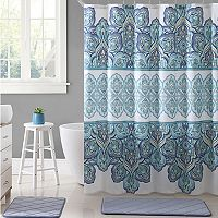 VCNY Paola Microfiber Shower Curtain