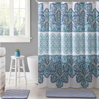 VCNY Paola Microfiber Shower Curtain
