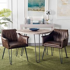 Safavieh Esme Faux-Leather Dining Chair 2-piece Set