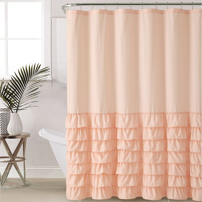 735732089909 Vcny Melanie Ruffle Shower Curtain