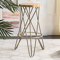 Safavieh Lorna Gold Finish Bar Stool