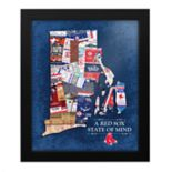 Boston Red Sox Rhode Island State of Mind Framed Wall Art