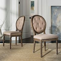 Safavieh Holloway Oval Back Dining Chair 2-piece Set