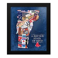 Boston Red Sox Vermont State of Mind Framed Wall Art