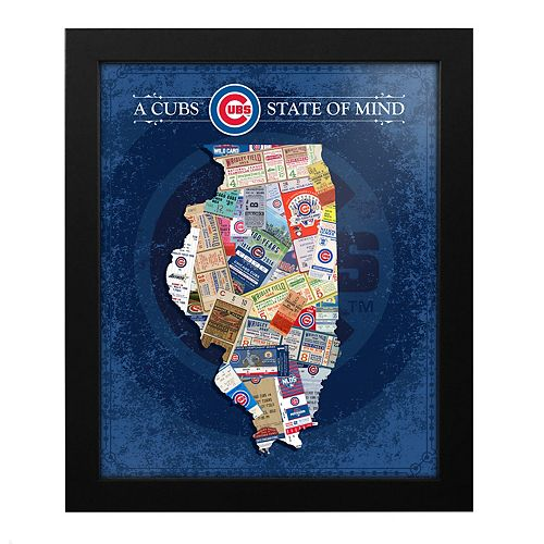 Chicago Cubs State of Mind Framed Wall Art