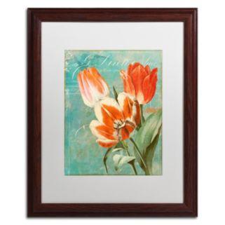 Trademark Fine Art Tulips Ablaze II Framed Wall Art