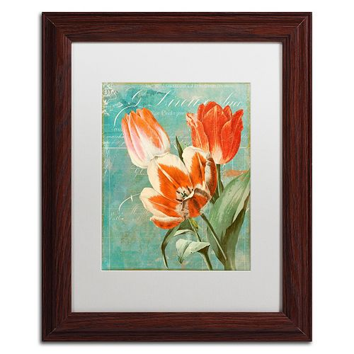 Trademark Fine Art Tulips Ablaze II Framed Wall Art