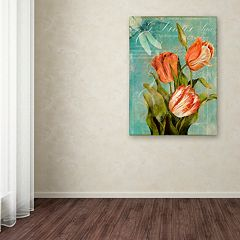 Trademark Fine Art Tulips Ablaze III Canvas Wall Art