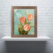 Trademark Fine Art Tulips Ablaze III Ornate Framed Wall Art
