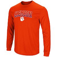 Men's Campus Heritage Clemson Tigers Gradient Long-Sleeve Tee