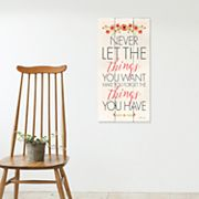 Artissimo Designs 'Never Let The Things' Canvas Wall Art