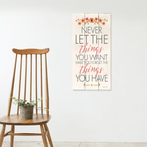 "Artissimo Designs ""Never Let The Things"" Canvas Wall Art"